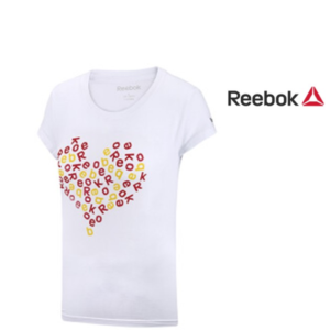 Reebok® T-Shirt Heart White Stared
