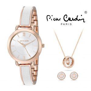 Conjunto Pierre Cardin® PCX7491L299 | Relógio | Colar | 2 Pares de Brincos