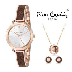 Conjunto Pierre Cardin® PCX7490L298 | Relógio | Colar | 2 Pares de Brincos