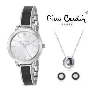 Conjunto Pierre Cardin® PCX7488L297 | Relógio | Colar | 2 Pares de Brincos