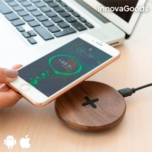 Carregador Sem Fios de Madeira de Carga Rápida Walnut Gadget Tech