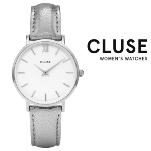 Relógio Cluse® Minuit Silver White Silver | 33MM