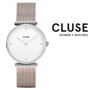 Relógio Cluse® Triomphe Silver Bicolour Mesh | 33MM