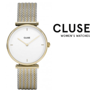 Relógio Cluse® Triomphe Gold Bicolour Mesh | 33MM
