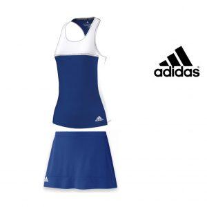 Adidas® Conjunto De Treino - Camisola + Saia Calção Blue and White | Tecnologia ClimaCool®