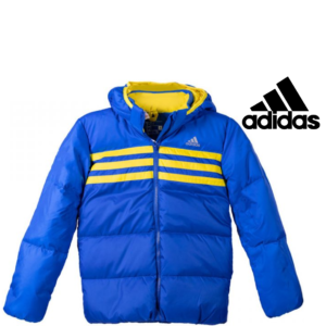 Adidas® Casaco Impermeável Junior Blue and Yellow