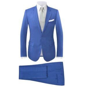Fato para homem, 2 pcs, tamanho 52, azul real - PORTES GRÁTIS