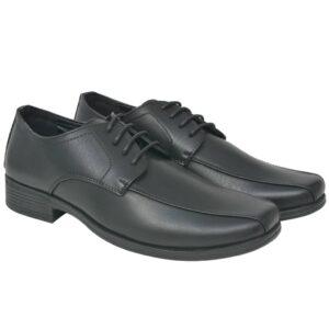 Sapatos clássicos homem c/ atacadores tamanho 41 couro PU preto  - PORTES GRÁTIS