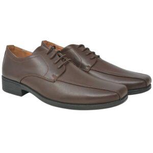 Sapatos clássicos homem c/ atacadores tam. 40 couro PU castanho - PORTES GRÁTIS