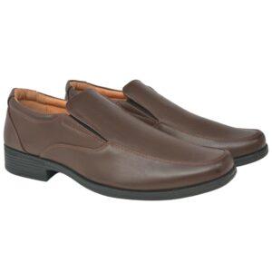 Sapatos mocassim homem tamanho 41 couro PU castanho - PORTES GRÁTIS