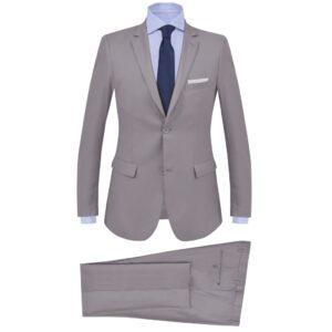 Fato formal para homem 2 pcs tamanho 46 cinzento claro - PORTES GRÁTIS