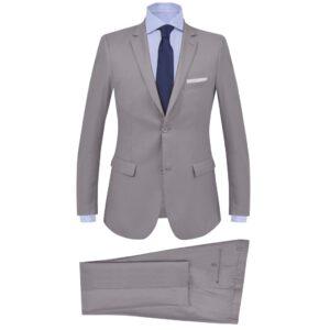 Fato formal para homem 2 pcs tamanho 50 cinzento claro - PORTES GRÁTIS