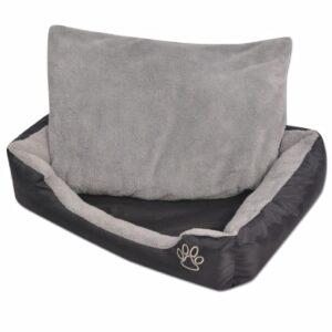 Cama para cães com almofada acolchoada tamanho XXXL preto - PORTES GRÁTIS