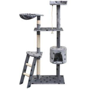 Árvore para gatos c/ postes arranhadores sisal 150 cm cinzento - PORTES GRÁTIS