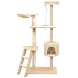 Árvore para gatos c/ postes arranhadores sisal 150 cm bege - PORTES GRÁTIS
