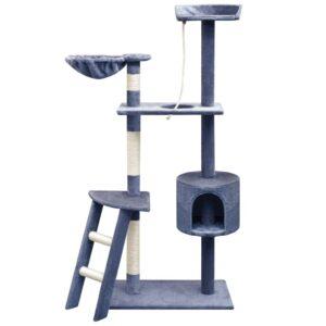 Árvore p/ gatos c/ postes arranhadores sisal 150 cm azul escuro - PORTES GRÁTIS