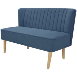 Sofá de tecido 117x55,5x77 cm azul - PORTES GRÁTIS