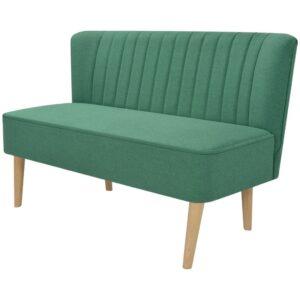 Sofá de tecido 117x55,5x77 cm verde - PORTES GRÁTIS