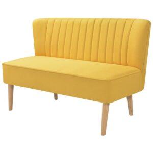 Sofá de tecido 117x55,5x77 cm amarelo - PORTES GRÁTIS