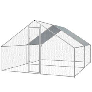 Galinheiro exterior em aço galvanizado 3x4x2 m - PORTES GRÁTIS