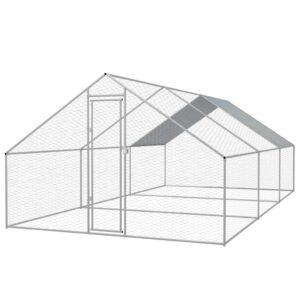 Galinheiro exterior em aço galvanizado 3x6x2 m - PORTES GRÁTIS