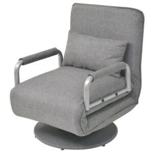 Cadeira giratória e sofá-cama cinzento claro 60x75x80 cm -  PORTES GRÁTIS