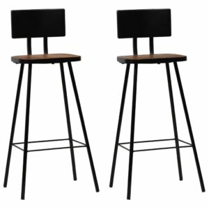 Cadeiras de bar 2 pcs madeira recuperada maciça castanho escuro  - PORTES GRÁTIS