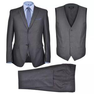 Fato formal para homem 3 pcs tamanho 56 cinzento antracite - PORTES GRÁTIS