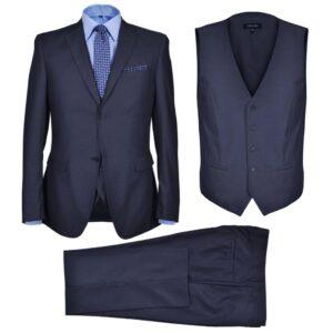 Fato formal para homem 3 pcs tamanho 56 azul-marinho - PORTES GRÁTIS