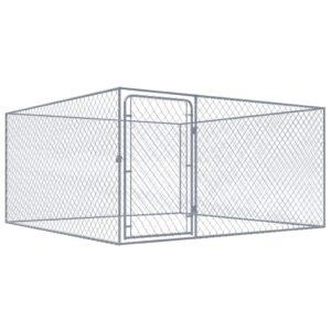 Canil de exterior em aço galvanizado 2x2 m - PORTES GRÁTIS