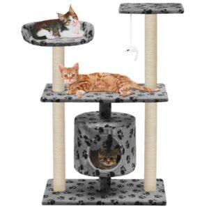 Árvore para gatos c/postes arranhadores sisal 95 cm cinzento - PORTES GRÁTIS