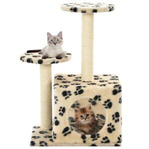Árvore para gatos c/postes arranhadores sisal 60 cm bege - PORTES GRÁTIS