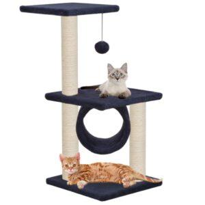 Árvore p/ gatos c/ postes arranhadores sisal 65 cm azul escuro - PORTES GRÁTIS