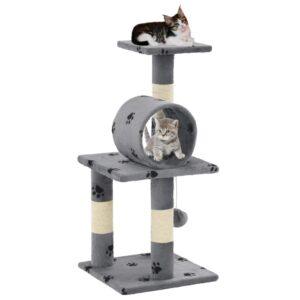 Árvore para gatos c/postes arranhadores sisal 65 cm cinzento - PORTES GRÁTIS