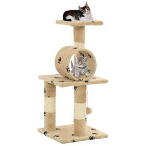 Árvore para gatos c/postes arranhadores sisal 65 cm bege - PORTES GRÁTIS