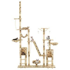 Árvore para gatos c/ postes arranhadores sisal 230-250 bege - PORTES GRÁTIS