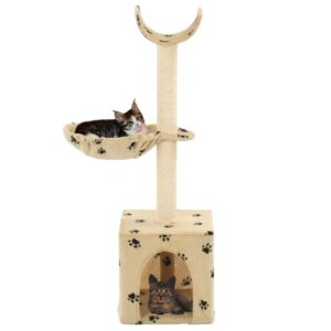 Árvore para gatos c/ postes arranhadores sisal 105 cm bege - PORTES GRÁTIS