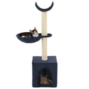 Árvore para gatos c/ postes arranhadores sisal 105 cm azul - PORTES GRÁTIS