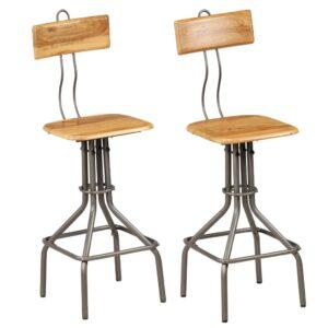 Cadeiras de bar 2 pcs teca recuperada maciça 41x51x102 cm - PORTES GRÁTIS