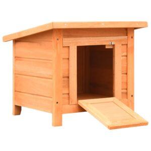 Casa para gatos pinho e abeto maciços 50x46x43,5 cm - PORTES GRÁTIS