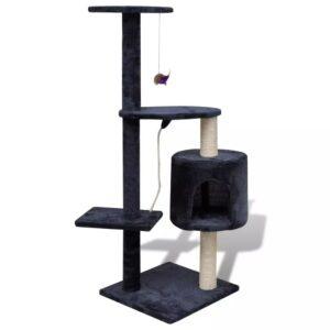 Arranhador para gatos com gatera, 114 cm / Azul escuro - PORTES GRÁTIS