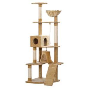 Arranhador para gatos 191 cm cor Bege de pelúcia - PORTES GRÁTIS