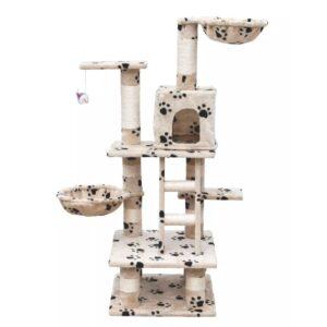 Arranhador para Gatos 122 cm / Bege de pelúcia - PORTES GRÁTIS