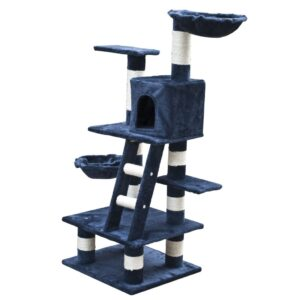 Arranhador para Gatos 122 cm / Azul de pelúcia - PORTES GRÁTIS