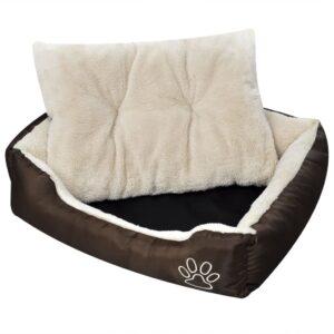 Cama para cão, quente com almofada acolchoada, tamanho M - PORTES GRÁTIS