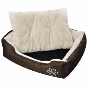 Cama para cão, quente com almofada acolchoada, tamanho L - PORTES GRÁTIS