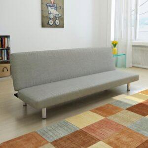 Sofá-cama poliéster cinzento - PORTES GRÁTIS