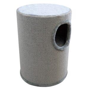Arranhador/casa para gatos 50 cm cinzento - PORTES GRÁTIS