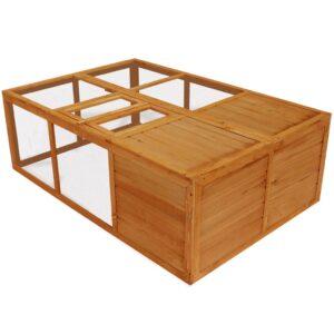 Gaiola para animais dobrável madeira - PORTES GRÁTIS