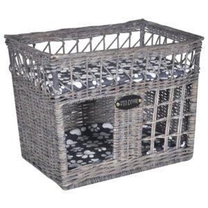 Casa gato salgueiro/ cama/ arranhador + poste + almofada quadrada - PORTES GRÁTIS